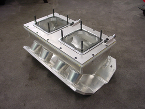 HRE 12 Sheet Metal Intake Manifold for Dual Carburetors