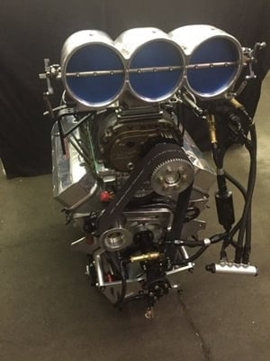New 548 Blown Top Dragster Engine . 2200 Hp Going to Brian Ferrall in Div. 2