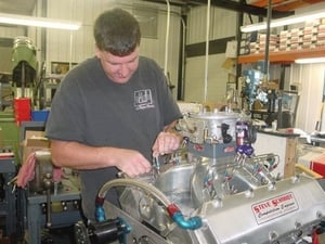 Dave Broyles is the primary man involved with most the dyno work. He also installs all of the nitrous systems on our engines.