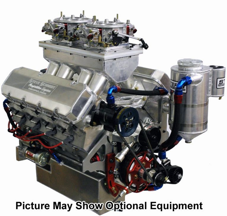 665 All Aluminum 12 Degree Drag Racing Engine Steve Schmidt Racing