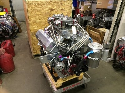 2 stage 665 top Dragster Engine going to Andy Gregiore in Div 1!!