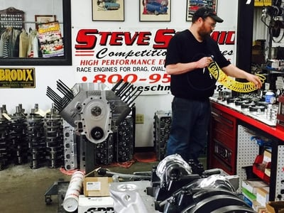 Dustin assembling these two Brodix 780 Cubic Inch